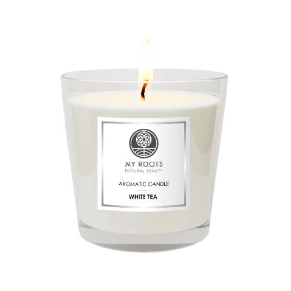 My Roots White Tea Classic Candle με Καπελιέρα 240gr