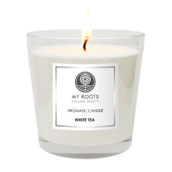 My Roots White Tea Classic Candle με Καπελιέρα 320gr