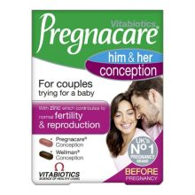 Vitabiotics Pregnacare Him & Her Conception X 60 Tabs