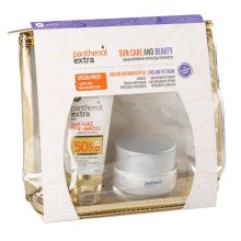 Panthenol Extra Promo Pack Sun Care Diaphanous Face Gel SPF50 50ml + Face and Eye Cream 50ml + Δώρο Νεσεσέρ