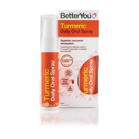 BetterYou Turmeric Daily Oral Spray 1300 mg 25 ml