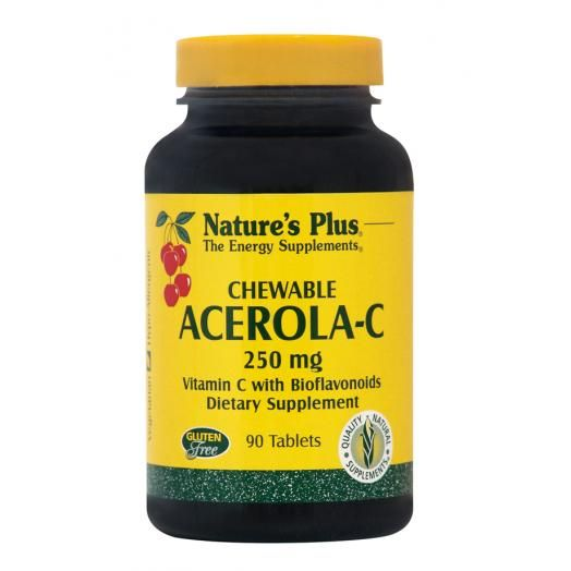 Nature's Plus Acerola-C Complex 250 mg X 90 Chewable Tabs