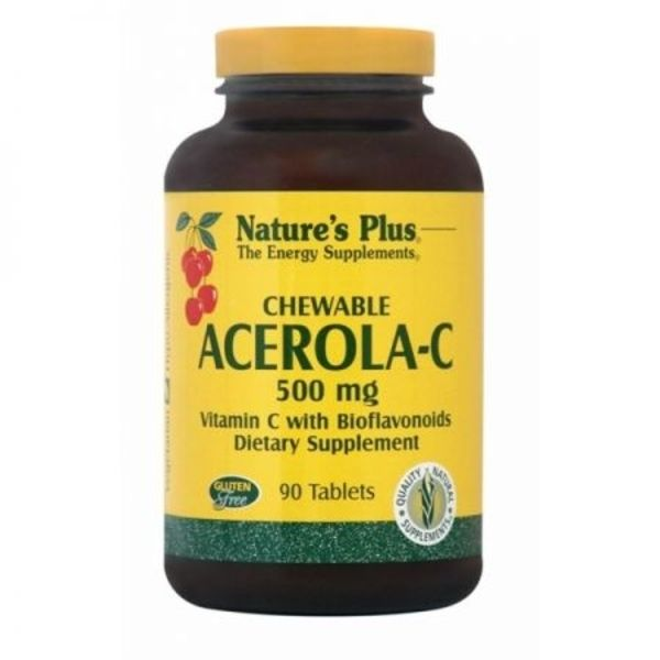 Nature's Plus Acerola-C Complex 500 mg X 90 Chewable Tabs