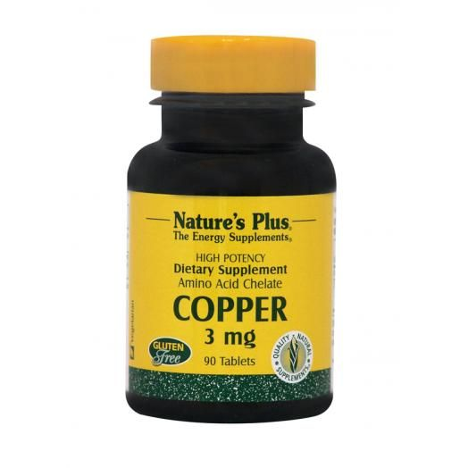 Nature's Plus Copper 3 mg X 90 Tabs