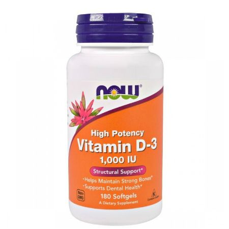 Now Foods D-3 (1000 IU) X 180 Softgels