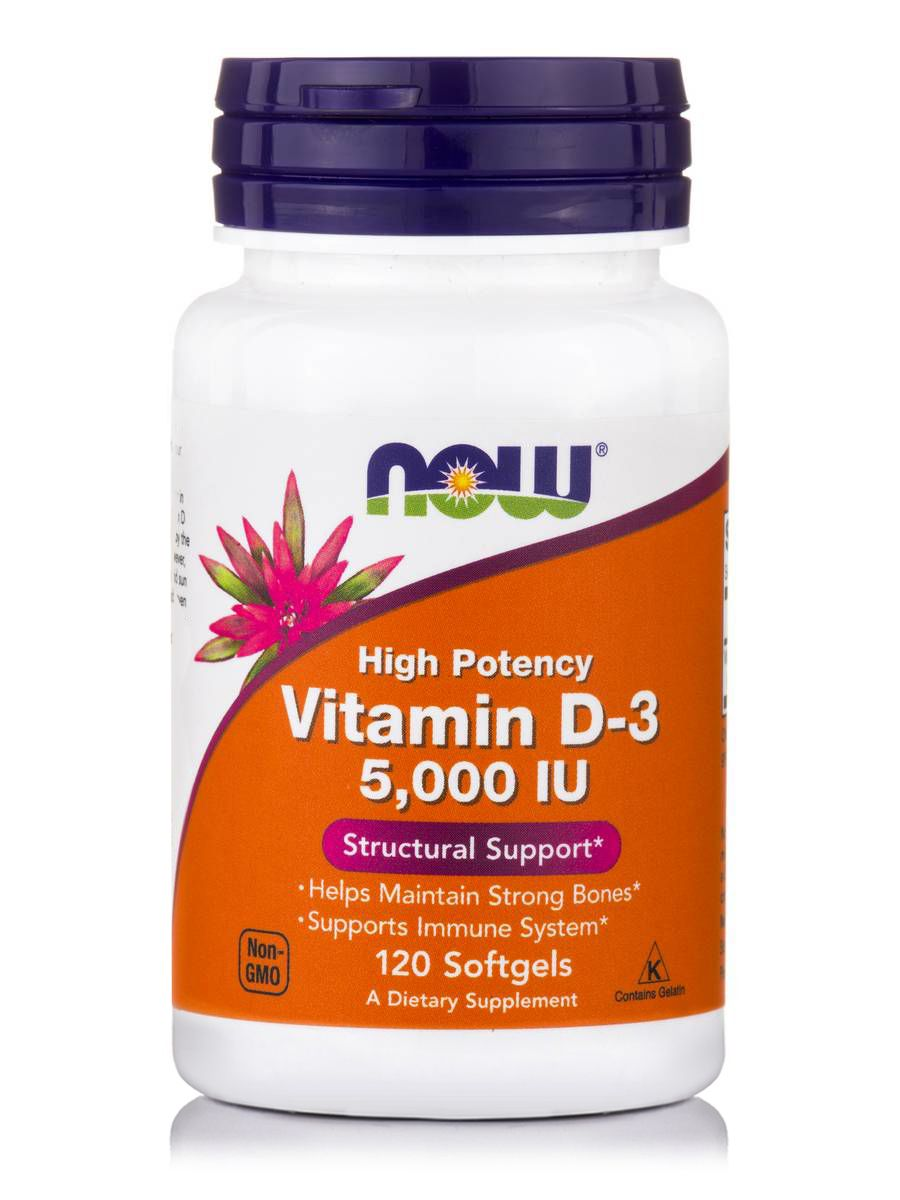 Now Foods D-3 5000 IU 120 Softgels