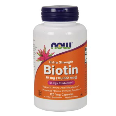 Now Foods Biotin 10 mg Extra Strength X 120 Vcaps