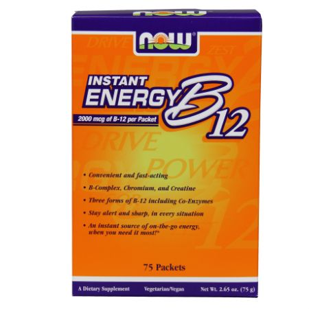 Now Foods B-12 Instant Energy X 75 Packs