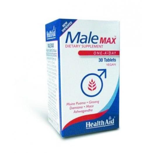 Health Aid Male Max Vegetarian Tablets X 30 Tabs (Export Only)