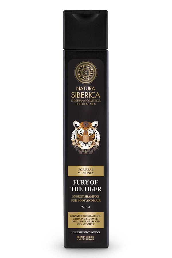 Natura Siberica Men Energy Shampoo For Body And Hair Fury Of The Tiger  250 ml