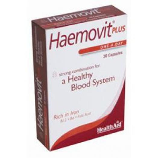 Health Aid Haemovit Plus -Blister Χ 30 Caps