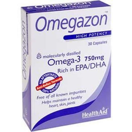 Health Aid Omegazon 750mg X 30 Caps -Blister
