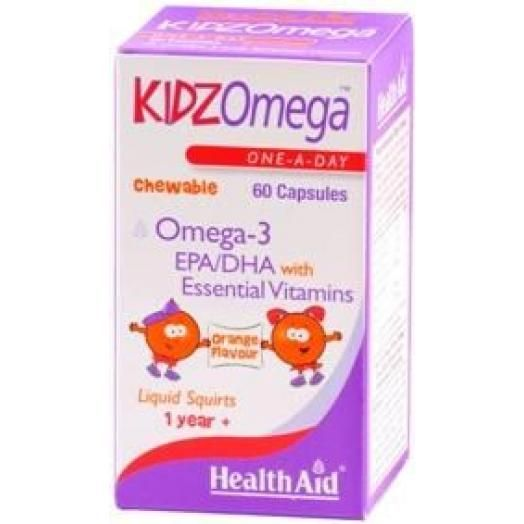 Health Aid Kidz Omega-3 Orange X 60 Caps