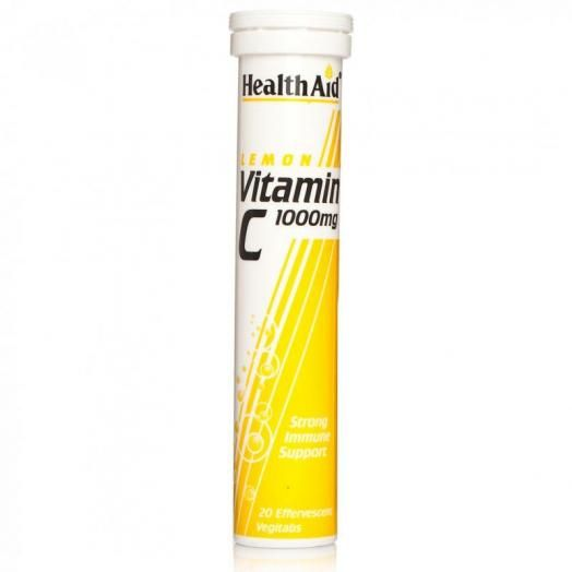 Health Aid Vitamin C Effervescent 1000mg  Lemon X 20 Tabs