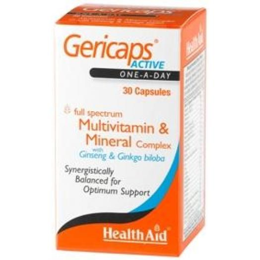 Health Aid Gericaps Active Capsules (With Ginseng + Ginkgo Biloba) X 30 Caps