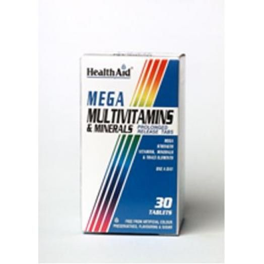 Health Aid Mega™ Multivitamin And Mineral Prolonged Release X 30 Tabs