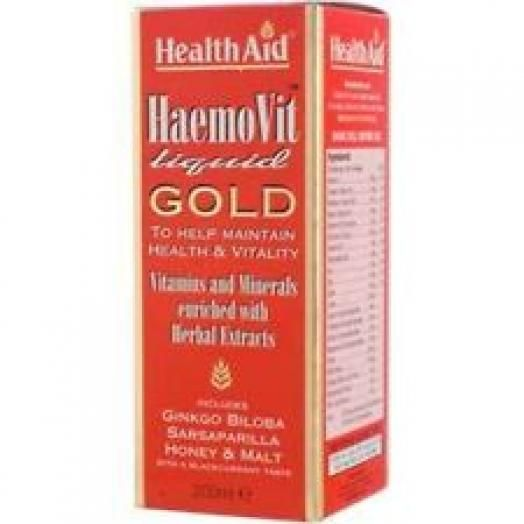 Health Aid Haemovit Liquid Gold Vitamins 200ml