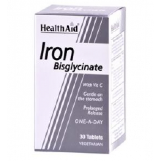 Health Aid Iron Bisglycinate 30mg X 30Tabs