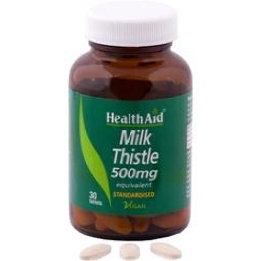 Health Aid Milk Thistle 500mg X 30 Tabs