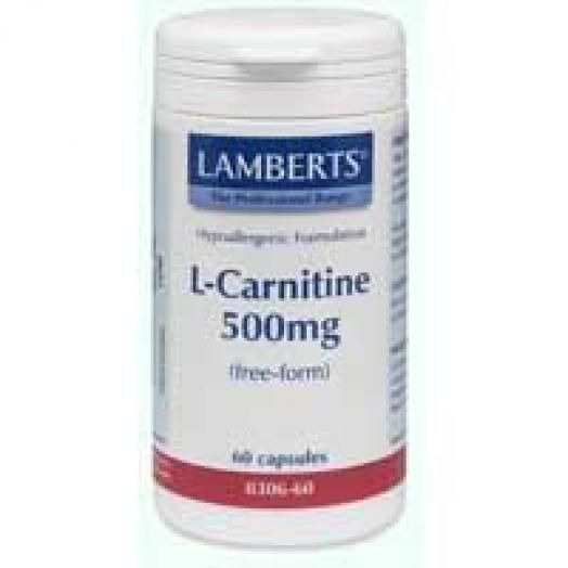Lamberts L-Carnitine New Higher Strength 500 mg X 60 Caps