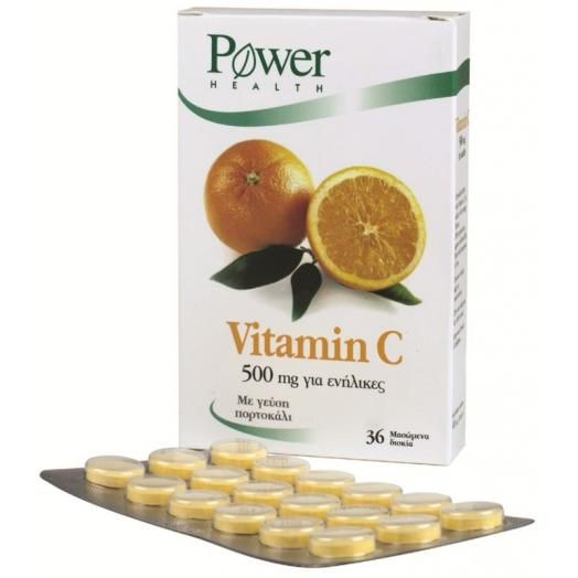 Power Health Vitamin C 500mg X 36 Caps
