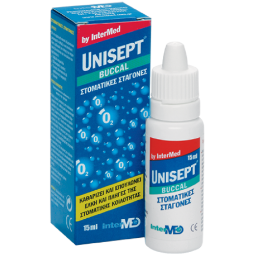 Intermed Unisept Buccal Drops With Actve Oxygene 15ml