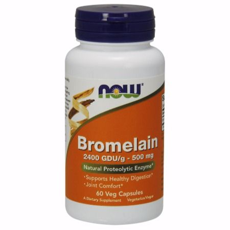 Now Foods Bromelain 500 mg / 2400 Gdu X 60 Vcaps