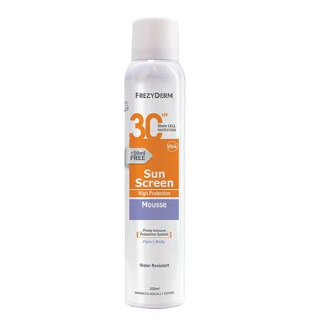 Frezyderm Sun Screen Mousse Spf 30 200 ml