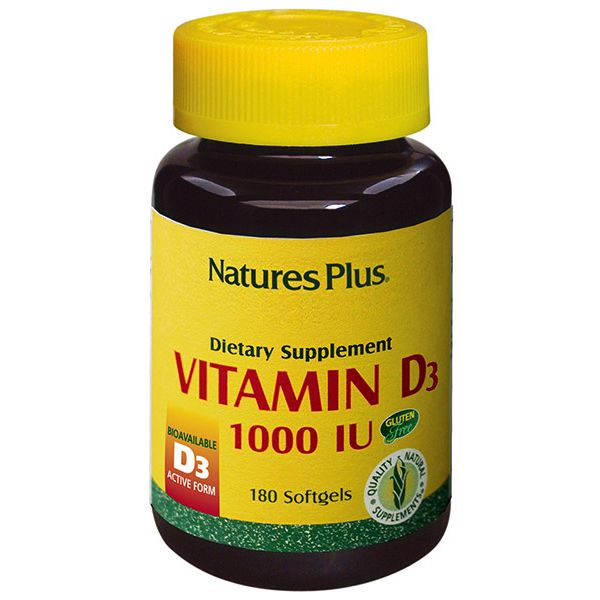 Nature's Plus Vitamin D3 1000 IU X 180 Soft gels