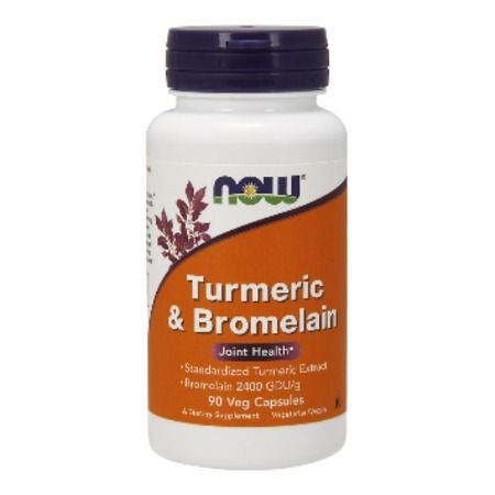 Now Foods Turmeric & Bromelain 600 mg X 90 Caps