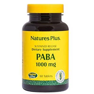 Nature's Plus Paba 1000 mg Sustained Release x 60 Tabs