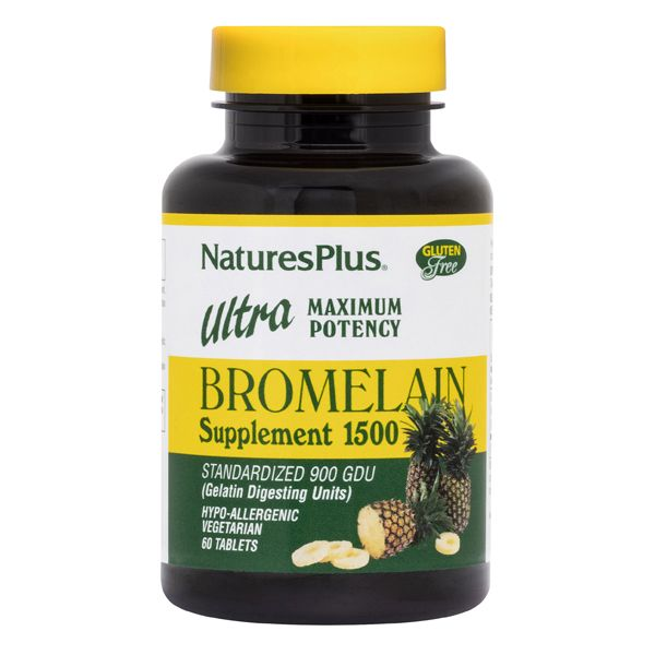 Nature's Plus Ultra Bromelain 1500 mg x 60 Tabs