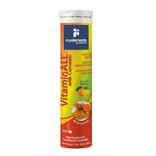 My Elements Vitaminall with Curcumin Orange-Lemon 20 Efferv.Tabls