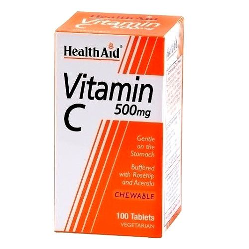 Health Aid Vitamin C 500 mg x 100 Chewable Vcaps
