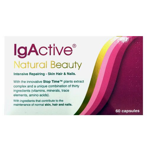 Igactive Natural Beauty Intensive skin, Hair and Nails 60 Caps
