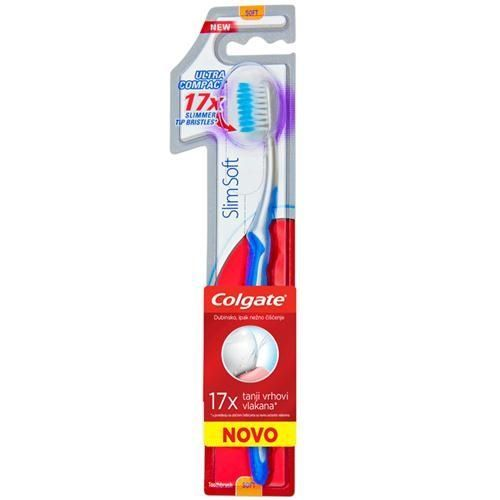 Colgate Slim Soft Ultra Compact Οδοντόβουρτσα Μαλακή 1 Τμχ