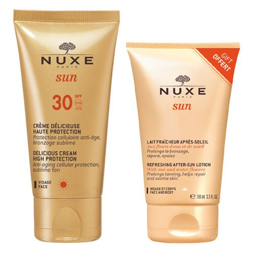 Nuxe Sun Delicious Lotion High Protection Spf 30 For Face & Body 150 ml + Δώρο Nuxe Sun Refreshing After-Sun Lotion 100ml