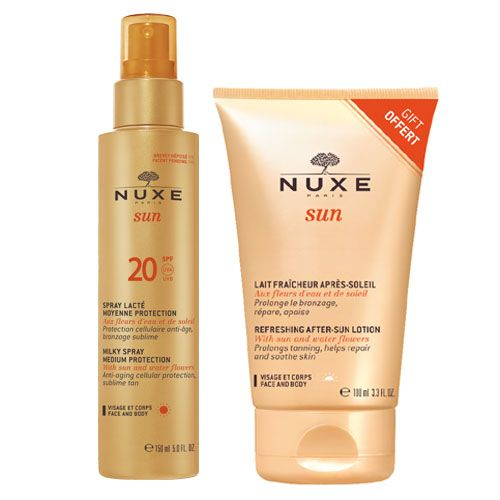 Nuxe Sun Milky Spray Spf 20 For Face & Body 150 ml + Δώρο Nuxe Sun Refreshing After-Sun Lotion 100ml