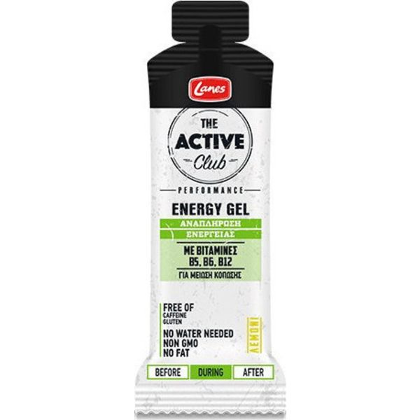 Lanes The Active Club Energy Gel Λεμόνι 55ml