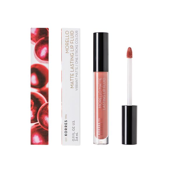 Korres Morello Matte Lasting Lip Fluid 06 Romantic Nude 3,4 ml