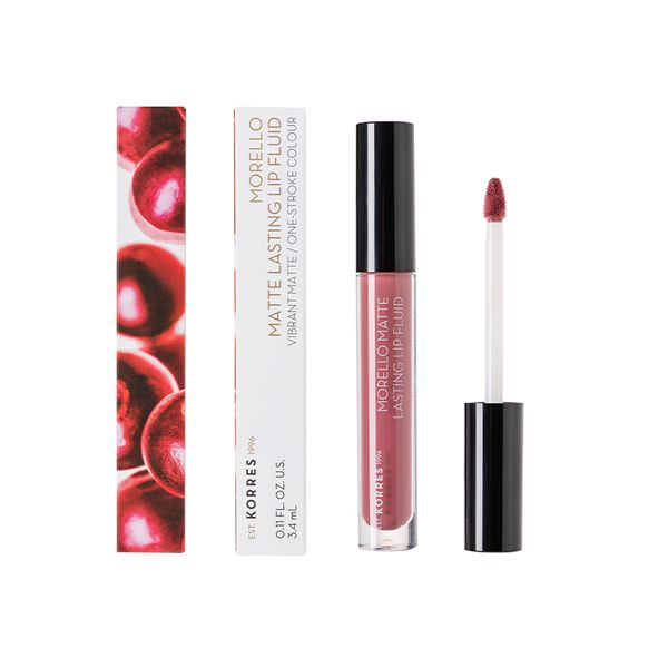 Korres Morello Matte Lasting Lip Fluid 10 Damask Rose 3,4 ml