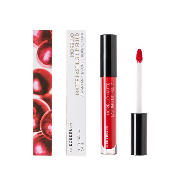 Korres Morello Matte Lasting Lip Fluid 53 Red Velvet 3,4 ml