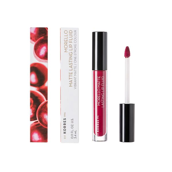 Korres Morello Matte Lasting Lip Fluid 74 Fig 3,4 ml