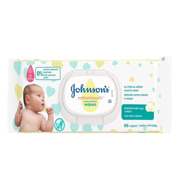 Johnson's Baby Cottontouch Wipes x 56 Τμχ