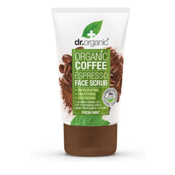 Dr.Organic Organic Coffee Espresso Face Scrub 125 ml
