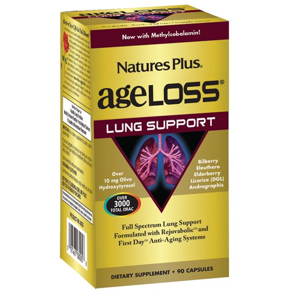 Nature's Plus Ageloss Lung Support 90vcaps
