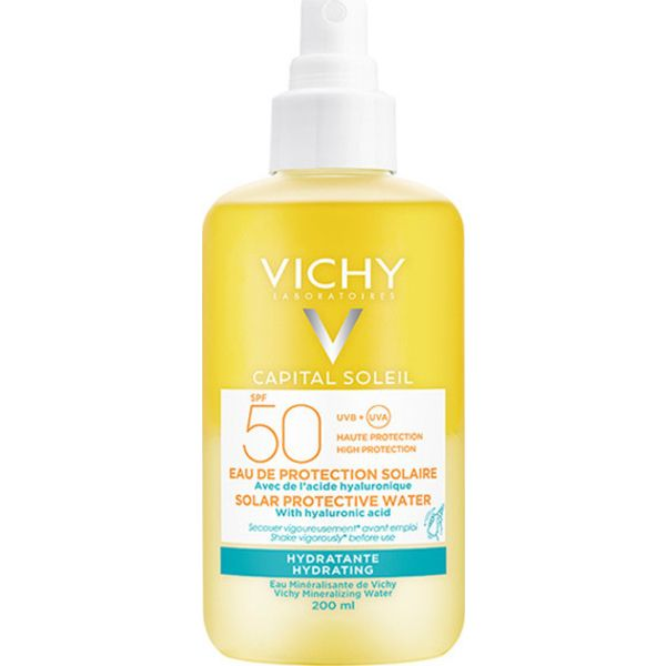 Vichy Capital Soleil Sun Protective Water Με Υαλουρονικό Οξύ Spf50 200 ml