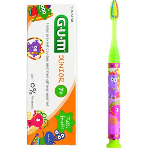 Gum 903 Ροζ Toothbrush 1 Minute Time Light + Δώρο Gum Junior 7+ Tutti Fruitti Paste 50ml