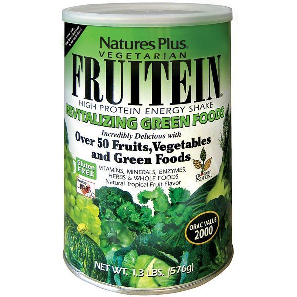 Nature's Plus Fruitein Revitalizing Green Foods Shake 576 gr