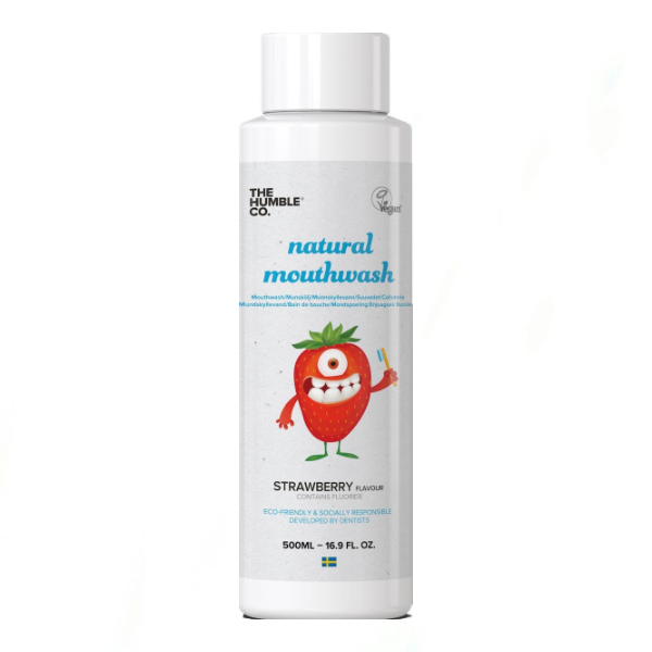 The Humble Co. Natural Kids Mouthwash Strawberry 500ml